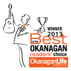 2013 WINNER - Best of the Okanagan Reader's Choice Award