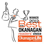 2012 WINNER - Best of the Okanagan Reader's Choice Award