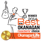 2014 WINNER - Best of the Okanagan Reader's Choice Award