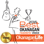 WINNER - Best of the Okanagan Readers' Choice Award 2016