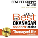 WINNER - Best of the Okanagan Readers' Choice Award 2017