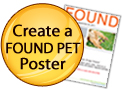Create a FOUND PET Poster button icon