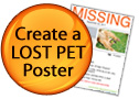 Create a LOST PET Poster button icon