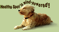 Healthy Spot is wind powered